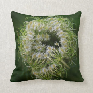 Queen Anne's Lace Bud Throw Pillow
