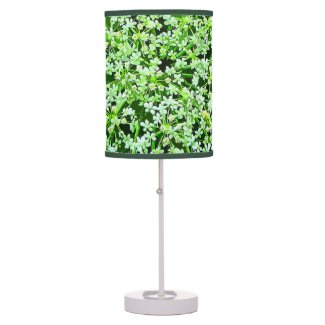 Queen Annes Lace Floral Table Lamp