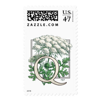 Queen Anne's Lace Flower Monogram Postage