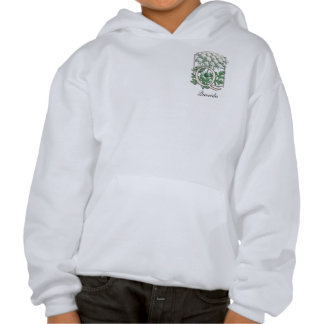 Queen Anne's Lace Flower Monogram Hooded Pullover