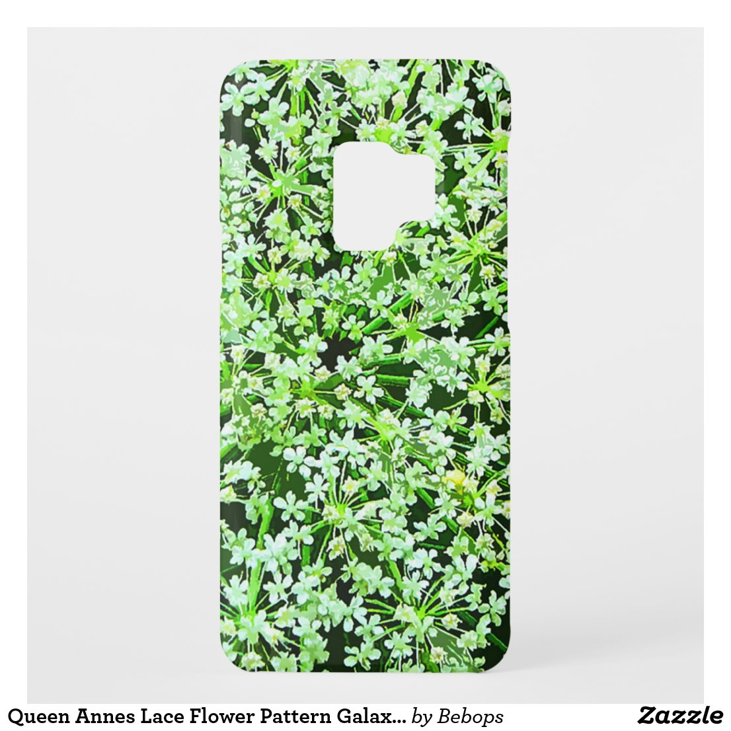 Queen Annes Lace Flower Pattern Galaxy S9 Case