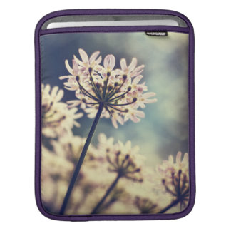 Queen Annes Lace flowers iPad sleeve