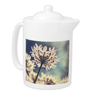 Queen Annes Lace flowers teapot