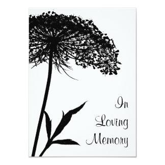 Queen Anne's Lace Funeral Memorial Announcement