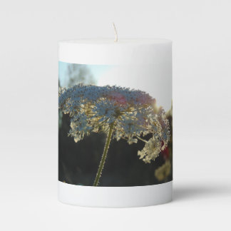 Queen Anne's Lace In Evening Pillar Candle