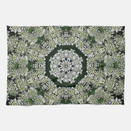 Queen Anne's Lace Kaleidoscope Hand Towel