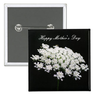 Queen Anne's Lace Mother's Day Pinback Button