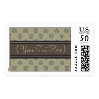 Queen Anne's Lace Olive Designer Postage