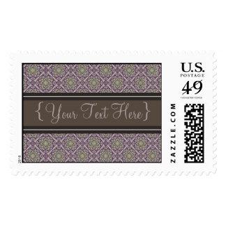 Queen Anne's Lace Royal Purple Designer Postage