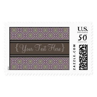 Queen Anne's Lace Royal Purple Designer Postage