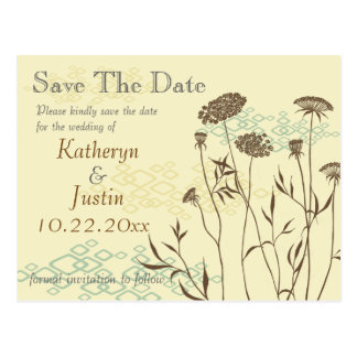 Queen Anne's Lace Save The Date Postcard