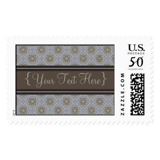 Queen Anne's Lace Sky Blue Designer Postage