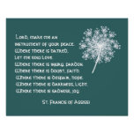 Queen Anne's Lace St. Francis Assissi Prayer Poster