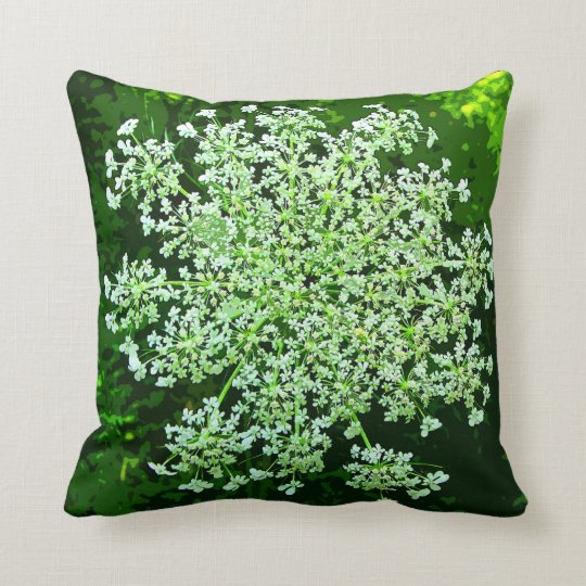 Queen Throw Pillow : Queen Annes Lace Throw Pillow Zazzle