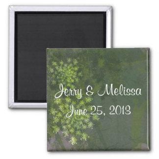 Queen Anne's Lace Wedding Favor Magnet