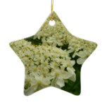 Queen Anne's Lace White Wildflower Ceramic Ornament