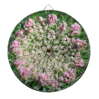 Queen Anne's Lace Wildflower Dartboard With Darts