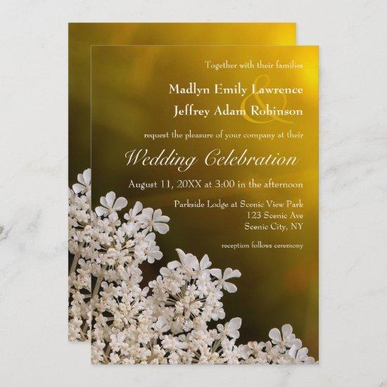Queen Anne's Lace wildflower wedding invitation