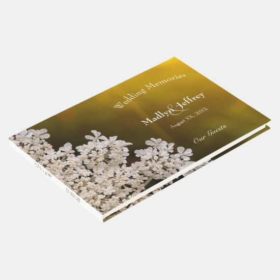 Queen Anne's Lace wildflower wedding memories Guest Book