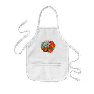Queen Anne's Lace with Orange Flowers Kids' Apron