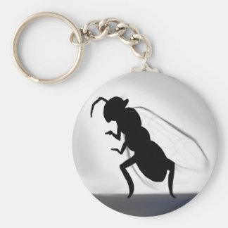 Queen Ant Basic Round Button Keychain