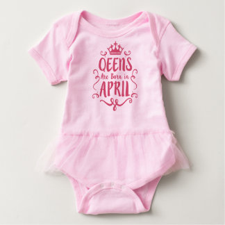 Queen are born in April Baby Bodysuit