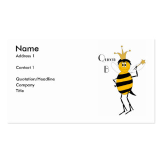 Queen B Profile Card Business Card Template