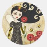 Queen Beatrix Round Stickers