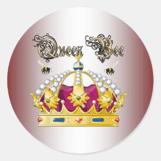 Queen Bee #2 Classic Round Sticker
