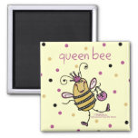 Queen Bee 2 Inch Square Magnet