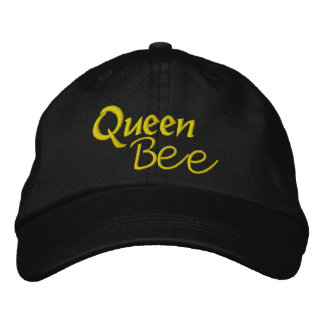 Queen Bee 2 - Larger Lettering Embroidered Baseball Hat