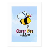 Queen Bee - aka Mom Postcard