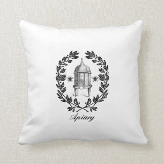 Queen Bee & Apiary Decorative Throw Pillow