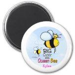 Queen Bee - Big Sister 2 Inch Round Magnet