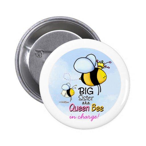Queen Bee - Big Sister Button
