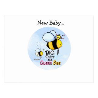 Queen Bee - Big Sister Postcard