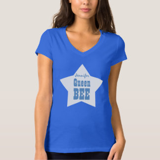 Queen Bee BOSS with Star V06C BLUE T-Shirt