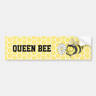 Queen Bee Bumper Sticker Car Bumper Sticker