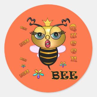 Queen Bee Classic Round Sticker