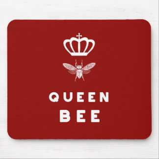 Queen Bee. Crown. Funny Cute Sayings. Mouse Pad