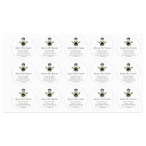 Queen Bee & Crown White Labels