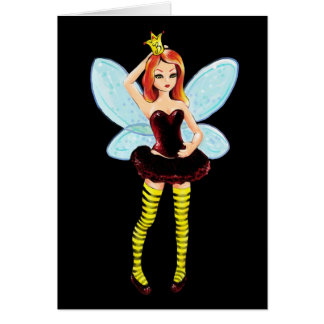 Queen Bee Fairy Birthday or Greeting card
