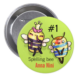 Queen Bee & Honey Diddy 3 Inch Round Button