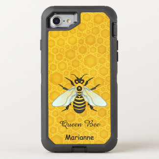 Queen Bee Honeybee Honeycomb Pretty | Add Name OtterBox Defender iPhone 7 Case