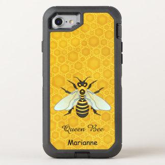 Queen Bee Honeybee Honeycomb Pretty | Add Name OtterBox Defender iPhone 8/7 Case