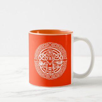 Queen Bee in Snow Two-Tone Coffee Mug