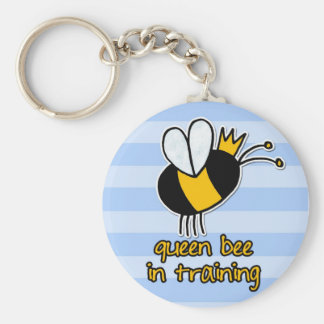 queen bee in training key chain