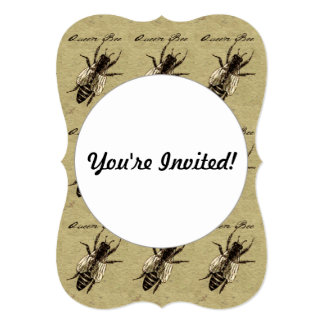 "Queen Bee 5"" X 7"" Invitation Card"