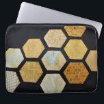 """Queen Bee Laptop Bag<br><div class=""""desc"""">Queen Bee &#169; Victoria Black 2016  Honeycomb applique</div>"""