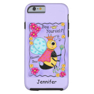 Queen Bee Lavender Honey Bee Art Personalized Tough iPhone 6 Case